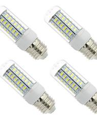 cheap -4PCS 3W E27 E14 LED Lamp LED Bulb SMD5730 Corn Bulb 56LEDs Chandelier Candle LED Light For Home Decoration Ampoule  220V or 110V