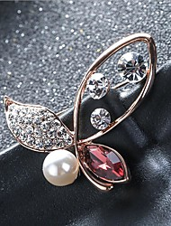 cheap -Women's Cubic Zirconia Brooches Classic Butterfly Stylish Simple Classic Brooch Jewelry Purple Blue For Party Gift Daily Work Festival