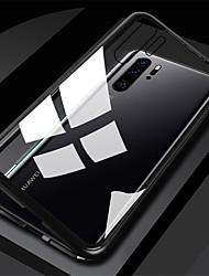Недорогие -чехол для huawei p40 p40 pro прозрачная магнитная задняя крышка сплошное цветное закаленное стекло металл нова 6se p30 p30 lite p30 pro