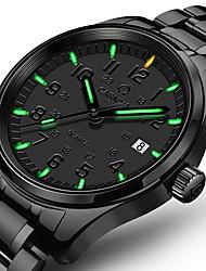 Недорогие -Carnival Муж. Наручные часы Кварцевый Нержавеющая сталь Черный 30 m Повседневные часы Аналоговый Роскошь Классика Мода Aristo Простые часы - Черный+Зеленый Белый + синий Белый  / зеленый