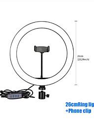 Недорогие -16см / 20см / 26см / 30см светодиодное селфи кольцо для освещения с регулируемой яркостью светодиодное кольцо лампы фото видеокамера телефон подсветка для фонаря для живой заливки