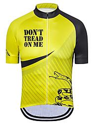 Недорогие -21Grams Муж. С короткими рукавами Велокофты Черный / желтый Американский / США Змея Флаги Велоспорт Джерси Верхняя часть Горные велосипеды Шоссейные велосипеды / Эластичная / Быстровысыхающий