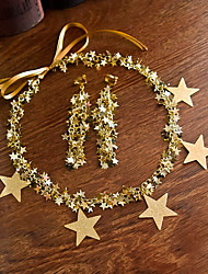 cheap -Star Style Alloy Headpiece / Earring with Trim / Star 1pack Birthday / Party / Evening Headpiece