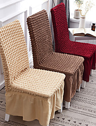cheap -Nordic Simple Style Plain Color Thick High Elastic Band Skirt Household Chair Set Table Chair Cover Four Seasons
