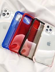Недорогие -чехол для карты яблока сцены iphone 11 11 про 11 про макс х х сс х р мс м 8 сплошной цвет блеск полупрозрачный материал тпу четыре угла анти-падение все включено чехол для мобильного телефона