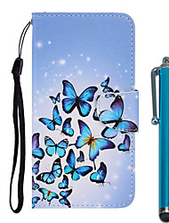 cheap -Case For Apple iPhone 11 / iPhone 11 Pro / iPhone 11 Pro Max Wallet / Card Holder / with Stand Full Body Cases Butterfly PU Leather / TPU