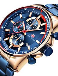 cheap -Men's Dress Watch Quartz Formal Style Modern Style Black / Blue 30 m Water Resistant / Waterproof Casual Watch Large Dial Analog Classic Fashion - Black Black / Blue black / gold