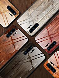 cheap -Luxury Wood Grain Phone Case For Huawei P30 Lite P20 Pro Mate 30 Pro P30 Pro P20 Lite Soft TPU Edge Slim Tempered Glass Cover Case