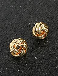 Недорогие -женские серьги-гвоздики классический шар классические винтажные серьги ювелирные изделия золото в подарок ежедневно 1 пара