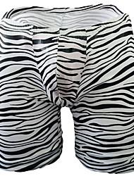 cheap -Men's Print Boxers Underwear - Normal Low Waist Black One-Size