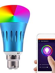 Недорогие -1шт 7 W Круглые LED лампы Умная LED лампа 700 lm E14 B22 E26 / E27 21 Светодиодные бусины Контроль APP Smart синхронизация Multi-цветы 85-265 V