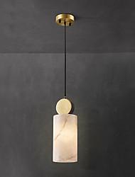 cheap -QIHengZhaoMing 12 cm Single Design Pendant Light Metal Marble Modern 110-120V / 220-240V