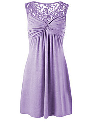 cheap -Women's Wine Purple Dress Sheath Solid Color S M