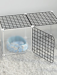 cheap -Dog Playpen Play House Fence Systems Foldable Washable Durable Free Standing Metal Black 8pcs