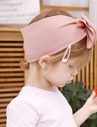 Недорогие -Ткань Хайратники Durag Для детской Бант Эластичность Назначение Новорожденный Праздники Стиль Активный Молочно-белый Розовато-серый Цвет фуксиии розовый 1 шт.