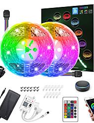 Недорогие -Светодиодные фонари zdm 10 м (2 * 5 м) RGB TIKTOC Lights Интеллектуальное управление приложениями с диммированием