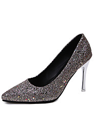 cheap -Women's Heels 2020 Stiletto Heel Pointed Toe Sequin PU Classic / Sweet Spring &  Fall / Spring & Summer Purple / Pink / Champagne / Wedding / Party & Evening