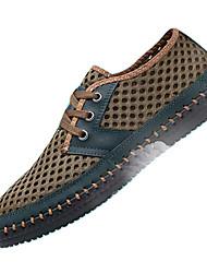 Недорогие -Муж. Наппа Leather Лето Туфли на шнуровке Для прогулок Желтый / Зеленый / Синий