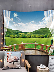 cheap -Window Landscape Wall Tapestry Art Decor Blanket Curtain Picnic Tablecloth Hanging Home Bedroom Living Room Dorm Decoration Polyester Garden Mountain Rural