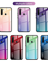 cheap -Case For Xiaomi scene graph Xiaomi 10 10 Pro Redmi Note 8 Note 8 Pro two-color gradient pattern tempered glass back plate TPU frame two-in-one anti-fall mobile phone case JMGD
