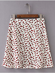 cheap -Women's A Line / Swing Skirts - Polka Dot Red Green Black S M L