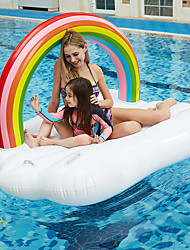 cheap -Rainbow Inflatable Pool Floats PVC Quick Dry Inflatable Durable Swimming Water Sports for Adults Kids 210*145 cm