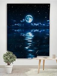 cheap -Moon Night Wandtapijt Bed cover Muur Opknoping Camping Grote Print Stof Galaxy decor Rechthoek Home Decor Ronde Handdoek