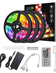 Недорогие -Водонепроницаемые светодиодные полосы ZDM 15 м (3 * 5 м) RGB RGB TIKTO Lights гибкий 5050 SMD 450 светодиодов ик 44 контроллера ключа с установочным пакетом 12v 6a адаптер комплект