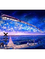 Недорогие -1000 pcs Замок Знаменитое здание MOON Мультяшная тематика Пазлы Головоломка для взрослых Огромный деревянный Взрослые Игрушки Подарок