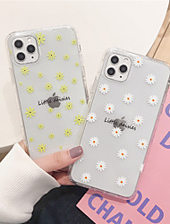 cheap -Case For Apple iPhone 11  11Pro 11 Pro Max Small daisy pattern TPU material painting process anti-scratch airbag anti-drop mobile phone case