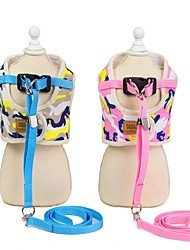 cheap -Dog Outfits Harness Leash Dog Clothes Yellow Pink Costume Husky Labrador Alaskan Malamute Polyester Geometic Sports & Outdoors S M L