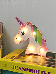 cheap -Unicorn Decoration Light LED Night Light For Children Lovely Creative ON / OFF Valentine's Day Christmas AA Batteries Powered 1pc