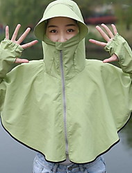 cheap -Women's Daily Basic Summer Short Cloak / Capes, Solid Colored Hooded Long Sleeve Polyester Purple / Blushing Pink / Green