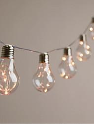 Недорогие -3.5 м гирлянда 10 светодиодов солнечная лампа a55 медный провод свет шнура на открытом воздухе водонепроницаемый рождество свадьба договоренности бар украшения сада светодиодный фонарь