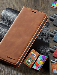cheap -Luxury Magnetic Wallet Flip Leather Phone Case For Samsung Galaxy S20 Ultra A51 A71 A91 A81 A21 A01 A70E S10 Plus 5G S8 S9 Plus S7 Edge A80 A70 A60 A50 A40 A30 A20e A10 A6 A8 A7 2018 Card Stand Cover