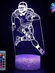 cheap -Kids Football GiftsFootball Party Supplies 16 Color Changing Kids Night Light with Touch and Remote Control Baby Football Decor Light Birthday for Kids Boys Baby