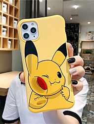 cheap -Case For Apple iPhone 11 11 Pro 11 Pro Max Little Pikachu pattern TPU material Painting process Four corners drop proof Xiaoman waist scratch proof phone case