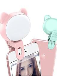 cheap -2pcs Mobile Phone Fill Light TikTok Youtube Video Self-Timer Cat Bear Live Led Mini Light LED Night Light 3 Modes Dimmable USB