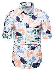 tanie -Męskie Geometric Shape Nadruk Koszula Hawajskie Codzienny Biały