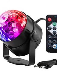 cheap -1 set 4 W 300 lm 3 LED Beads Remote Control / RC Creative LED Stage Light / Spot Light RGB 85-265 V Halloween Christmas
