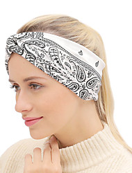 cheap -Fabric Headbands Durag Sports Adjustable Bowknot For Holiday Street Sporty Simple Black Grey Light Gray Camel 1 Piece / Women's
