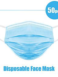 Недорогие -50шт лицо рот зовые защитить 3 слоя фильтра пылезащитный ушной вкладыш нетканые маски для рта