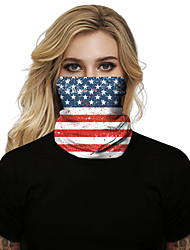 cheap -Women's  Face cover Spandex Fashion Halloween National Flag Mask Polyester Fall Winter Spring Summer