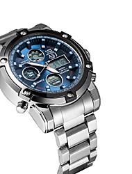 cheap -Smartwatch Digital Modern Style Sporty Outdoor Water Resistant / Waterproof Analog - Digital Black Silver Silver+Blue / Calendar / date / day / Large Dial