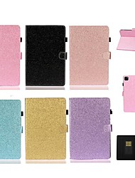 cheap -Case For Apple iPad Mini 3/2/1/Mini 5 Card Holder/with Stand / Flip Full Body Cases Solid Colored / Glitter Shine PU Leather For iPad Pro 11'' 2020/New Air 10.5 2019/Pro 10.5/iPad 10.2 2019/iPad Air 2