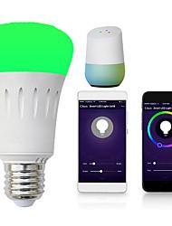 Недорогие -1шт 7 W Круглые LED лампы Умная LED лампа 700 lm E14 B22 E26 / E27 30 Светодиодные бусины Контроль APP Smart синхронизация Multi-цветы 85-265 V
