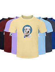 cheap -Men's Women's Cotton Running T-Shirt Workout Shirt Round Neck Running Active Training Jogging Breathable Quick Dry Moisture Wicking Sportswear Dog Plus Size Tee / T-shirt Top Short Sleeve Activewear