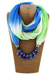 Недорогие -Этнические женщины полиэстер смолы бисер градация длинный прямоугольник шарф на праздник