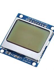 Недорогие -жк-модуль дисплей монитор синий адаптер подсветки печатной платы 84x48 жк-экран для nokia 5110 экран для arduino