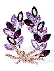 cheap -Women's Cubic Zirconia Brooches Classic Flower Stylish Simple Classic Brooch Jewelry Purple Blue Lilac For Party Gift Daily Work Festival